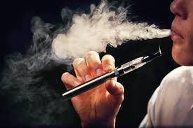 Smoking E-Cigarette