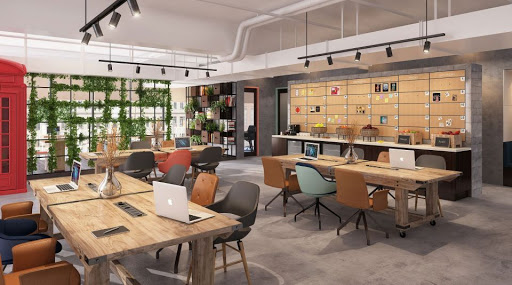 under co-working space